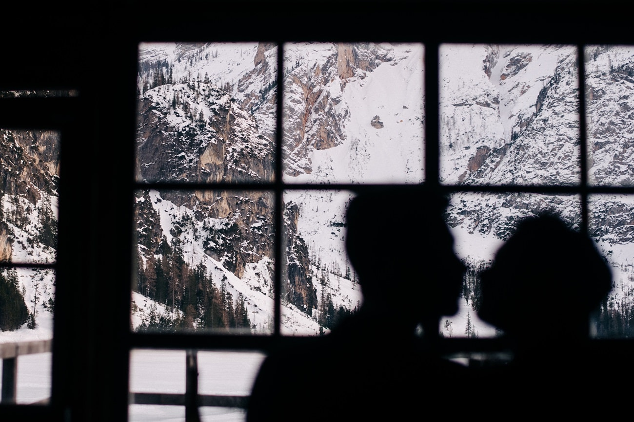 Winter Dolomites Elopement
