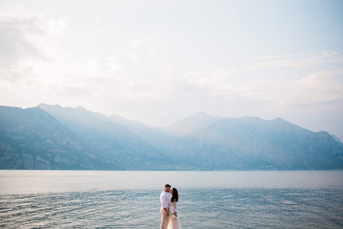 Wedding Photo Castle Malcesine Lake Garda
