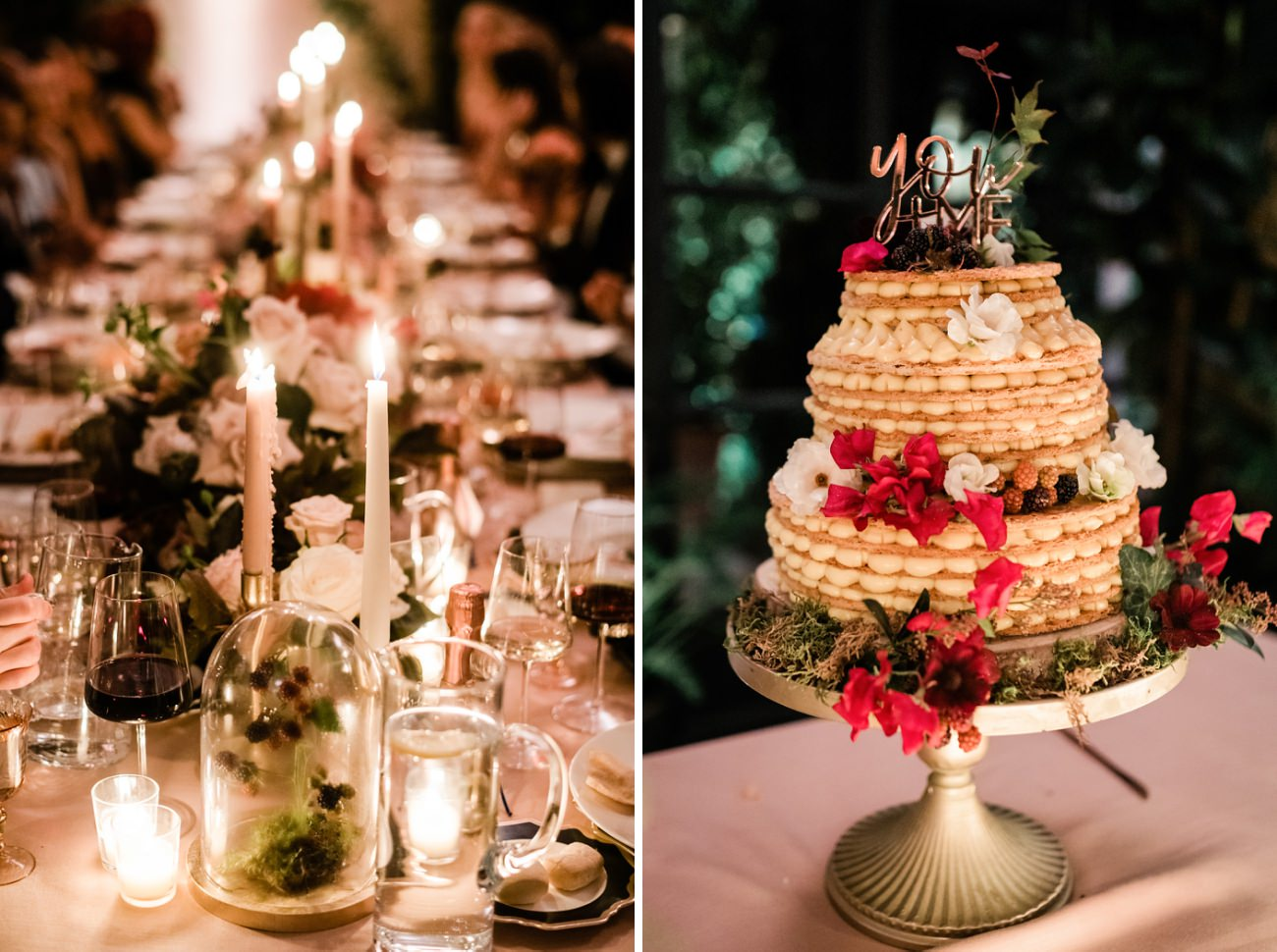 A Rose-Gold Fantasy / A Night Wedding Villa del Balbianello Lake Como