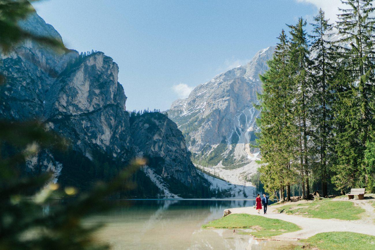 Couple Shooting Italian Dolomites